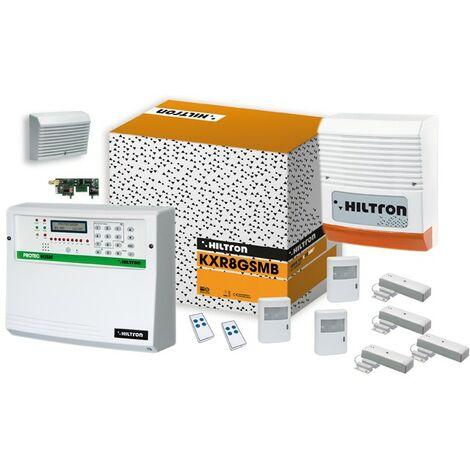 Kit de alarma XR Hiltron a través de la central de radio protec8GSM y accesorios KXR8GSMB