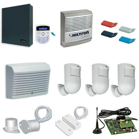 Kit de AllarmeXM Hiltron con central XMA4000 con accesorios KMA4000GSM