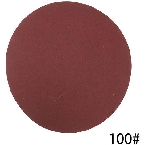 Kit de almohadillas para discos de lijado de 125 mm, grano 100, 100 piezas