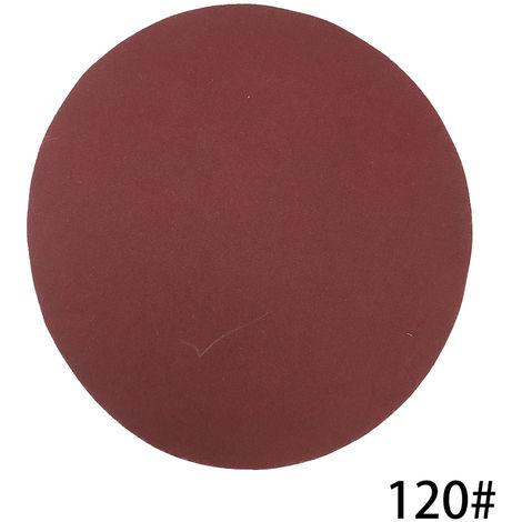 Kit de almohadillas para discos de lijado de 125 mm, grano 120, 100 piezas