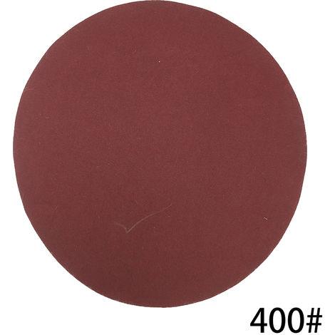 Kit de almohadillas para discos de lijado de 125 mm, grano 400, 100 piezas