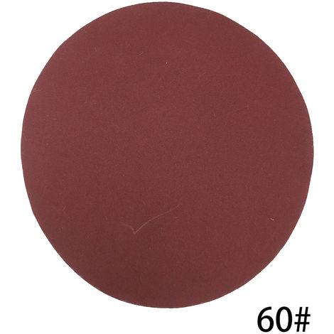 Kit de almohadillas para discos de lijado de 125 mm, grano 60, 100 piezas