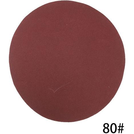 Kit de almohadillas para discos de lijado de 125 mm, grano 80, 100 piezas