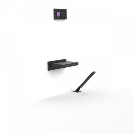 Kit de baignoire thermostatique encastré SHOWER TECHNOLOGY avec Bec Cascade Noir Mat - TRES 09288570NM