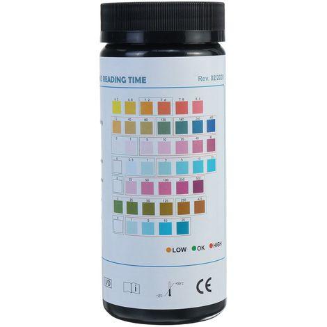 Kit de bandelettes de test tropicales d'eau de réservoir de poissons d'aquarium 7 en 1 Nitrite Nitrate PH