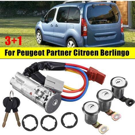 Kit de baril d'allumage de serrures de porte arrière avant de voiture pour Peugeot Partner pour citro?n Berlingo 1996-2008 96244156