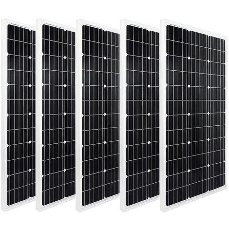 Kit de batterie de panneau solaire 500W 5x100W 12V Module photovoltaïque PV Module solaire RV Camp van