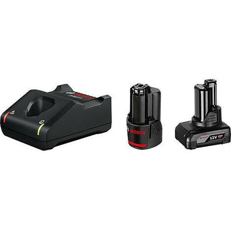 Kit de batteries BOSCH 12V avec 1x batterie 2,0 Ah et 1 x batterie 4,0 Ah et chargeur