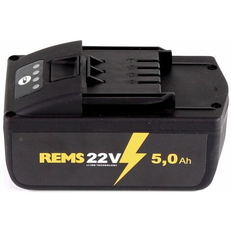 Kit de batteries REMS: 2x Batteries 21,6V (22V max) 5,0Ah (571581)