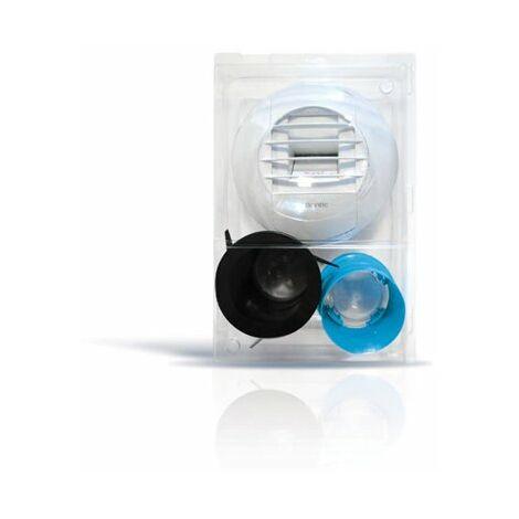 Kit de bouche d'extraction simple flux hygroréglable sanitaires avec piquage - Twist & Go - Atlantic
