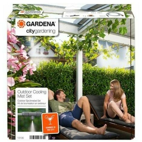 Kit de brumisation jardin urbain avec programmateur Easy Plus GARDENA 13137-26