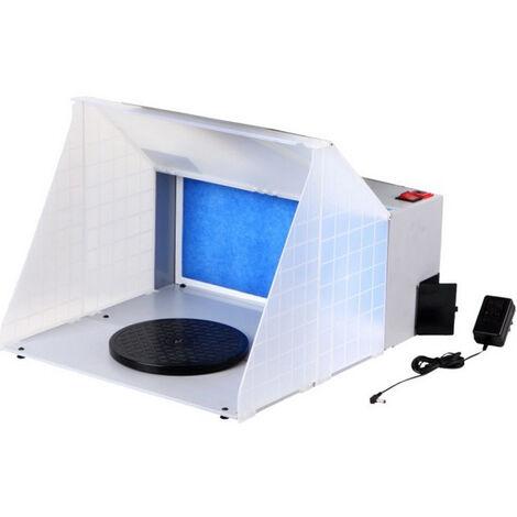 Kit de cabina de pulverizacion de aerografo profesional portatil Kit de pintura de filtro de escape Extractor de aerografo para manualidades modelo