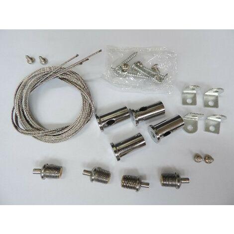 """main image of """"Kit de cables acier pour montage de suspensions réglables longueur 1200mm TARGETTI KTLP-SPU"""""""