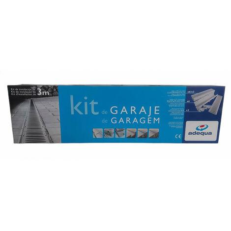 Kit de canalón de paso de garaje de 3 metros con rejilla de PP