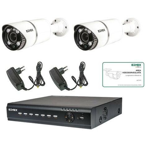kit de Cctv Elvox de 8 canales, 2 tel 2 fuente de alimentación HDD de 1 tb 46550.816 B