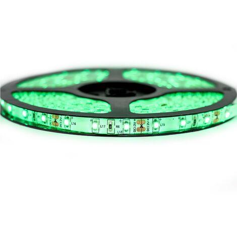 Kit de cinta profesional 3528 - 60 leds/m - 1m, 2.5m, 5 o 10 metros a elegir - a prueba de salpicaduras de color verde (IP65)