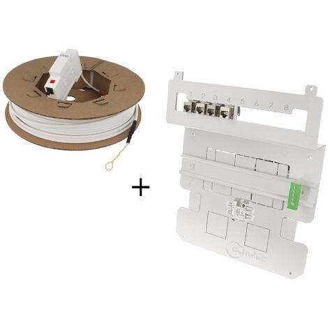 Kit de communication fibre pour bac d'encastrement avec DTIO