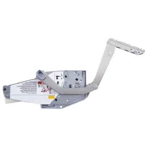 Kit de compas de relevage FREE SWING - ferrures droite/gauche, 2 attaches façade, 2 fixations - H500-670mm 4,50-10,60kg