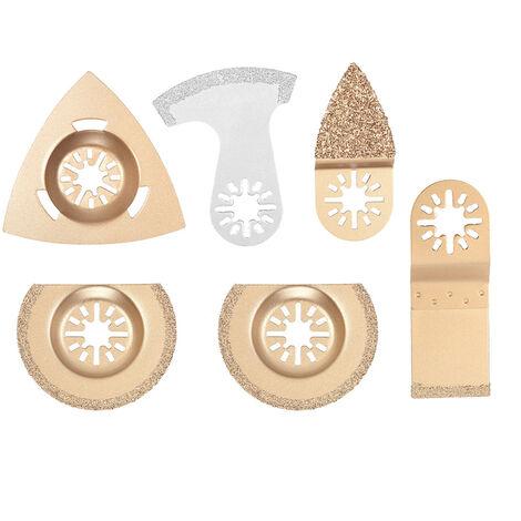 """main image of """"Kit de corte de sierra oscilante mixta de 6 piezas"""""""