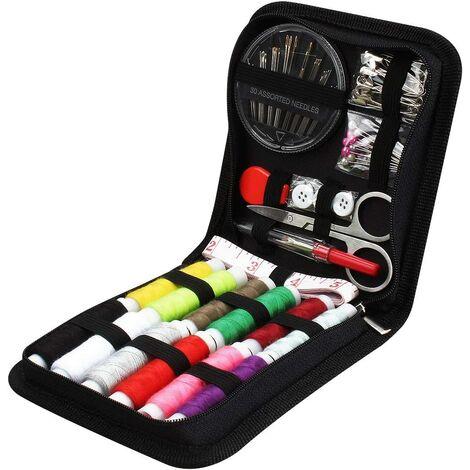 Kit de Couture 73PCS Accessoires de Couture, 12 bobines de Fil - 50m Kit de Couture Premium Grand Format avec Sac de Transport