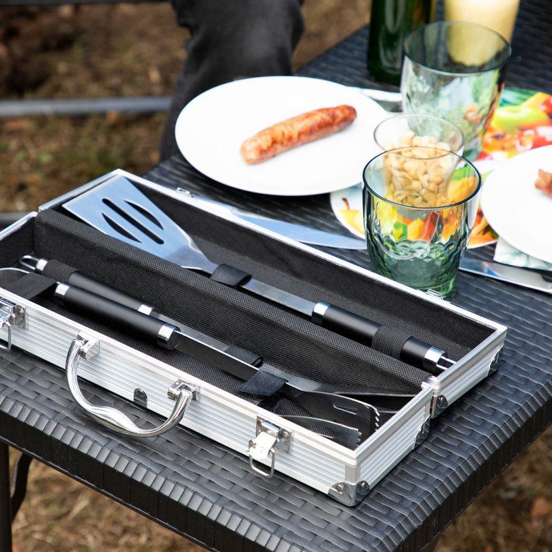 Kit de couverts pour barbecue 3 pièces accessoires grill BBQ