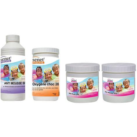 Kit de démarrage pour spa gonflable - 4 Produits - Blanc