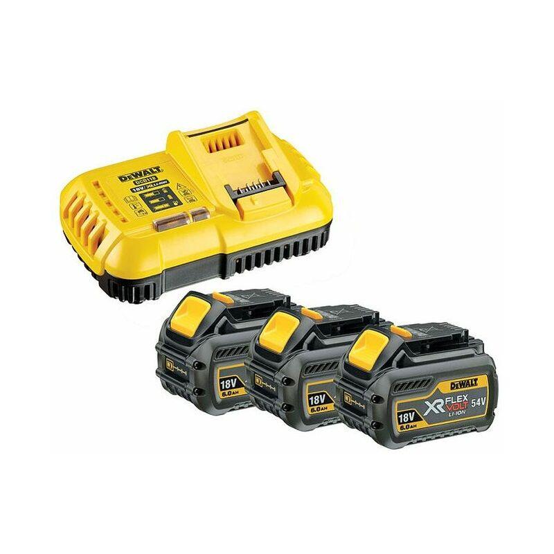 DeWALT Set de base 3 x batterie 54V /108 Wh - DCB118T3-QW