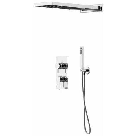 Kit de douche complet de style moderne Gattoni Soffio 8180/PD | Chromé