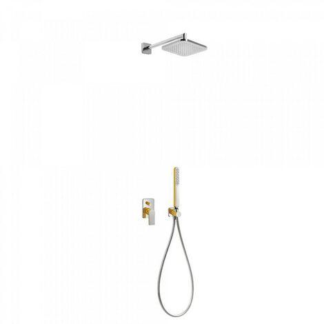 Kit de douche encastré avec fermeture et réglage du débit - TRES 20018002AM Ambre