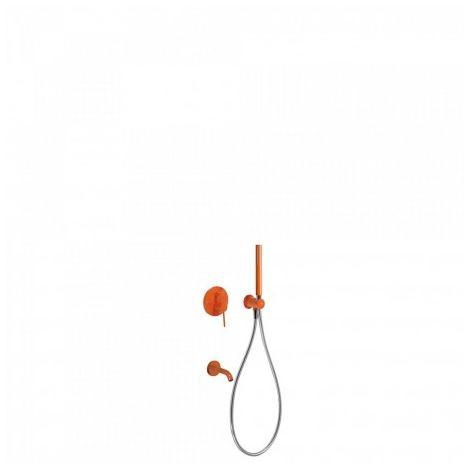 Kit de douche encastré avec fermeture et réglage du débit - TRES 26218003TNA Orange