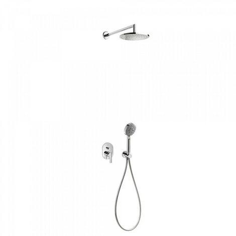 Kit de douche encastré LEX avec fermeture et régulation du débit - TRES 18188005