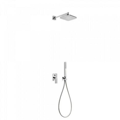 Kit de douche encastré LOFT avec fermeture et régulation du débit - TRES 20018002