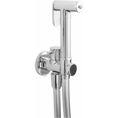 Kit de douche hygiénique pour le nettoyage des toilettes modèle rond Piralla rubinetterie KITIDROR   Chromé