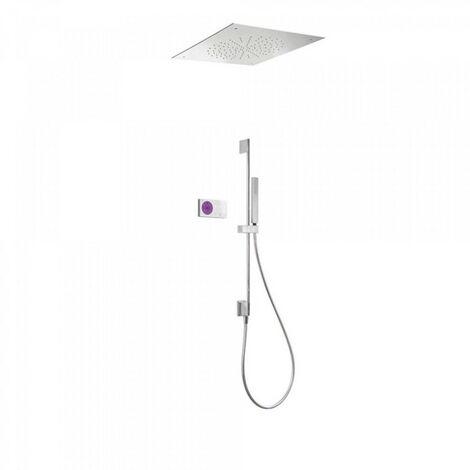 Kit de douche thermostatique électronique et encastré SHOWER TECHNOLOGY avec contrôle électronique compris (blanc) - TRES 092865