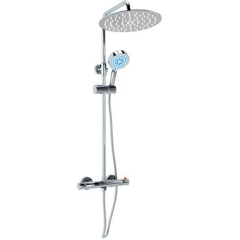 Kit de ducha combinado con termostato acero inoxidable