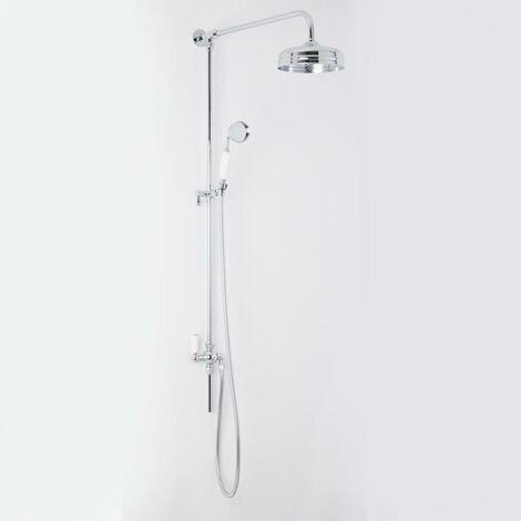 Set de ducha retro barra de ducha sistema de ducha con ducha de mano y alcachofa ajustable