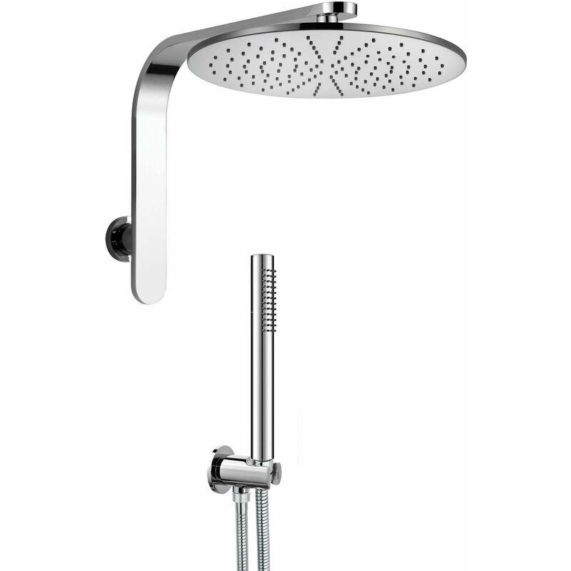 kit de ducha redondo de latón Lybra Tondo | Ø 200 mm - Damast