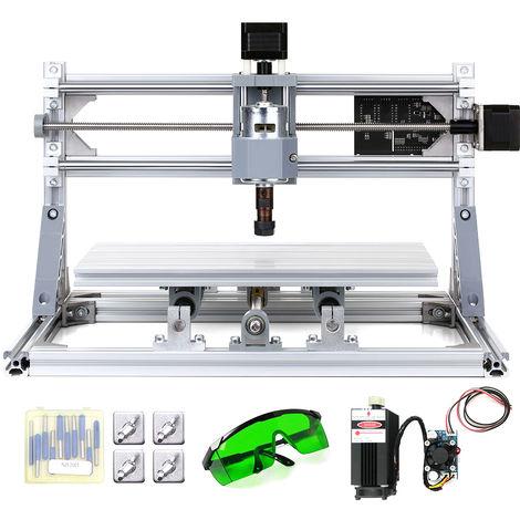 Kit de enrutador CNC DIY, maquina de grabado laser 2 en 1, 5500mW,area de trabajo 300x180x45 mm