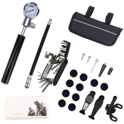 Kit de extraccion de bicicletas bicicletas Portable Practico herramienta multifuncion de aleacion de aluminio anti-Rust