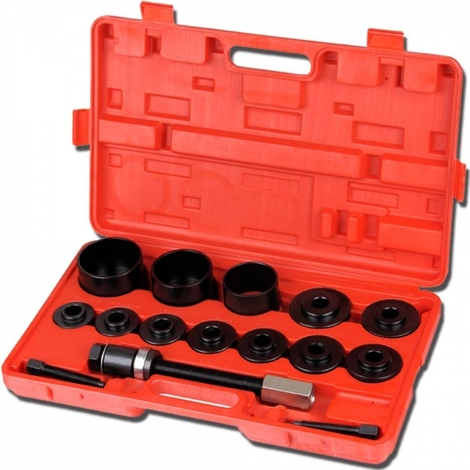 Kit de Extracción de Ruedas, Herramientas de Cojinetes de Rueda, 17 Partes, con estuche roja, Material: Acero C45