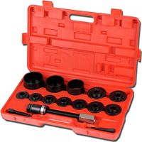 Kit de Extracción de Ruedas, Herramientas de Cojinetes de Rueda, con estuche roja, 17 Partes, Material: Acero C45