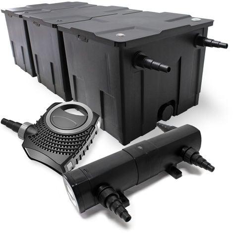 Kit de filtración de estanque Bio 90000l clarificador UVC 36W 80W bomba de bajo consumo tipo