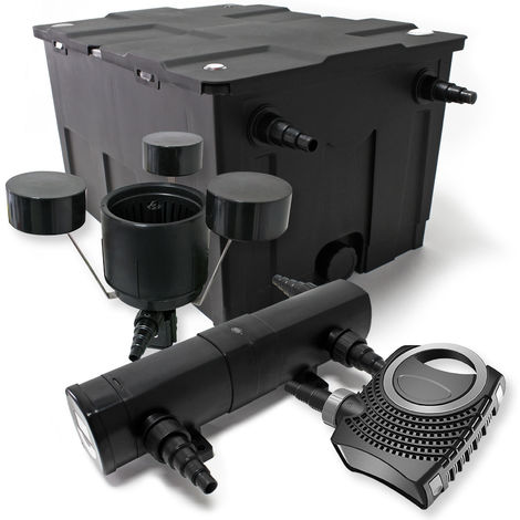 Kit de filtración de estanque Bio Filtro 60000l esterilizador UVC 36 W 80 W bomba Éco ecumeur jardin