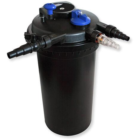 Kit de filtración estanque a presión 30000L clarificador UVC 18W 70W bomba Éco ecumeur