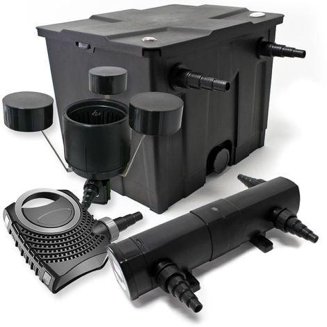 Kit de filtración estanque Bio 12000L Clarificador UVC 36W 80W bomba Éco ecumeur