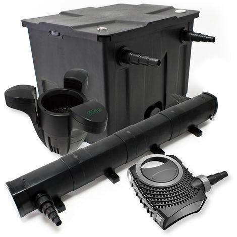 Kit de filtración estanque Bio 12000L clarificador UVC 72W 80W bomba Éco ecumeur