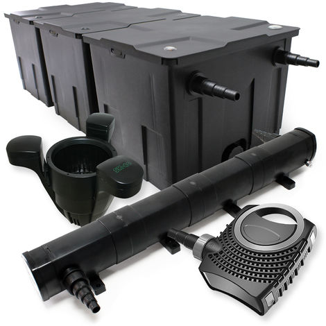 Kit de filtración estanque Bio 90000l clarificador UVC 72W 80W bomba Éco ecumeur