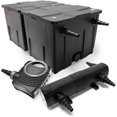 Kit de filtración estanque Bio Filtro 60000l 80W bomba Éco clarificador estanque 36W
