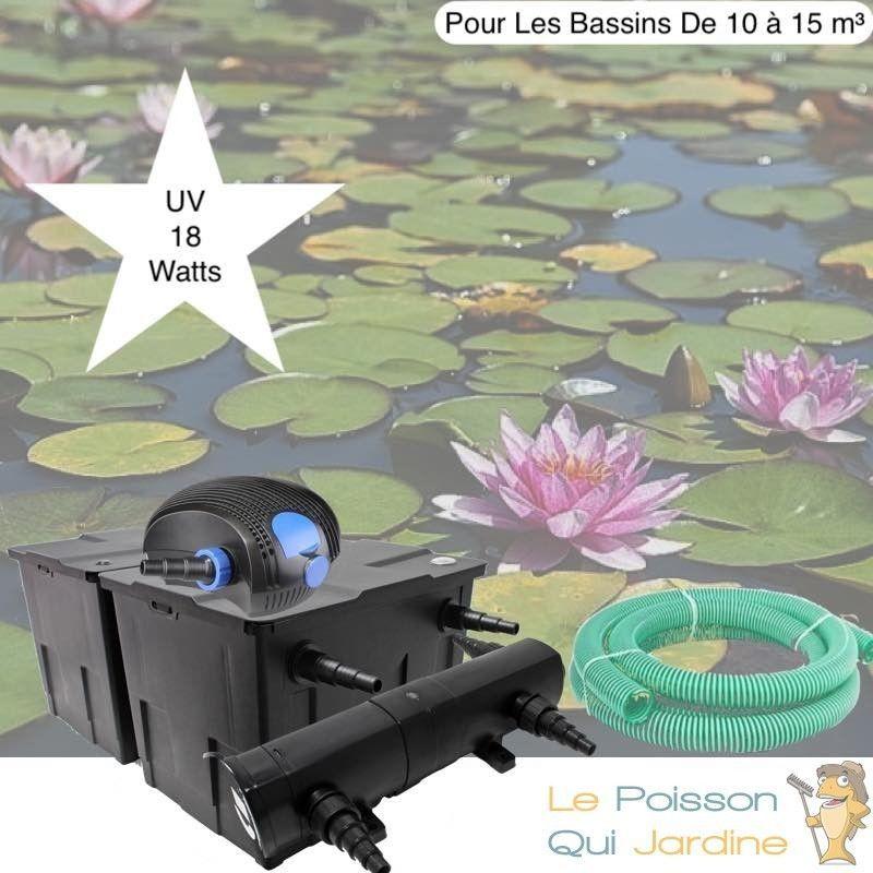 Kit De Filtration, 18W, Avec UV, Pour Bassin De Jardin : 10 à 15 m³ - LE POISSON QUI JARDINE