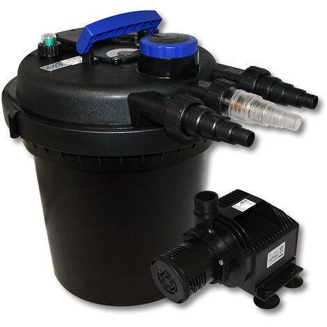 Kit de filtration à pression bio 6000l Stérilisateur UVC 11W Pompe de bassin